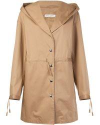 Barbara Casasola - Hooded Buttoned Coat - Lyst