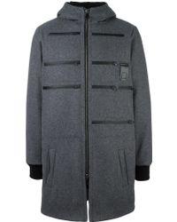 Letasca - Zip Detail Hooded Coat - Lyst