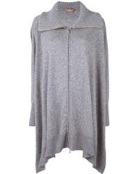 Cruciani - Thick Neck Asymmetric Cardi-coat - Lyst