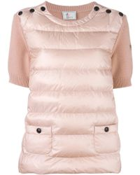 Moncler Grenoble - Padded Knitted Top - Lyst