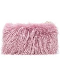 Mr & Mrs Italy - Two Tone Fur Clutch - Lyst