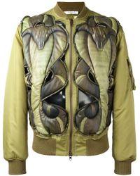Givenchy - Cobra Embossed Bomber Jacket - Lyst