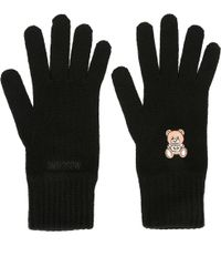 Moschino - Bear Embroidered Gloves - Lyst