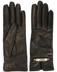 Moschino - Short Logo Gloves - Lyst