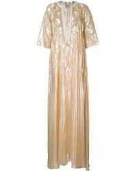 Carolina Herrera - - Embroidered Kaftan - Women - Silk/lurex - M - Lyst
