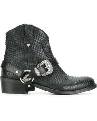 HTC Hollywood Trading Company - Buckled Cowboy Boots - Lyst