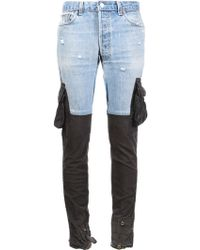 Greg Lauren - Contrast Slim-fit Trousers - Lyst