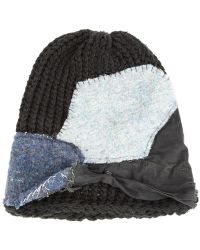 Greg Lauren - Knit Patch Beanie - Lyst
