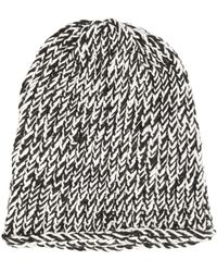 Greg Lauren - Bicolour Knit Beanie - Lyst