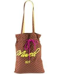 MUVEIL   Drawstring Lips Print Tote Bag   Lyst