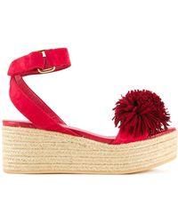 MUVEIL | Pom Pom Platform Sandals | Lyst