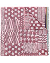 Paul Smith - Mixed-jacquard Pattern Scarf - Lyst