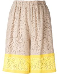 N°21 - Lace Shorts - Lyst