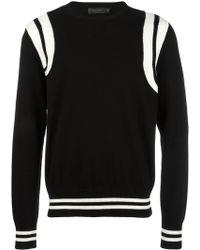 CALVIN KLEIN 205W39NYC - Striped Detail Sweatshirt - Lyst