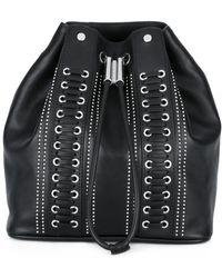 Diesel Black Gold - Studded Drawstring Backpack - Lyst