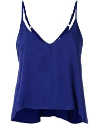 Blue Man - V Neck Blouse - Lyst