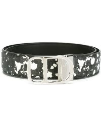 Dior Homme - Paint Splatter Effect Belt - Lyst