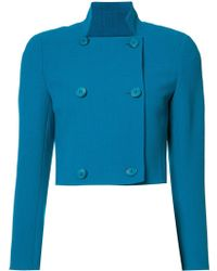 Akris - Cropped Double-breasted Jacket - Lyst