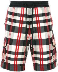 Christian Pellizzari - Checked Bermuda Shorts - Lyst