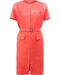 Maison Ullens - Belted Leather Dress - Lyst