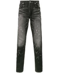 Uniform Experiment | Paint Splatter Slim-fit Jeans | Lyst