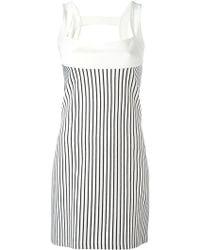 Plein Sud Jeanius   Striped Dress   Lyst