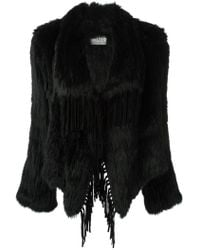 Meteo by Yves Salomon - Fringed Fur Coat - Lyst