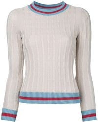 Loveless - Cable Knit Jumper - Lyst