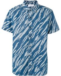 Les Benjamins - Printed Short Sleeve Shirt - Lyst