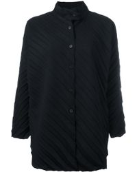 Issey Miyake Cauliflower - Ribbed Knitted Coat - Lyst