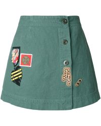 Mr & Mrs Italy - Patch Buttoned Skirt - Lyst