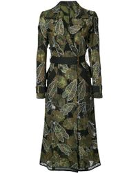 Yigal Azrouël - Leaf Embroidered Trench Coat - Lyst