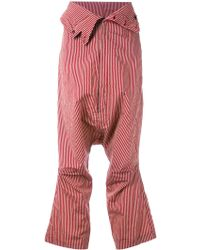 Rundholz - Striped Cropped Trousers - Lyst
