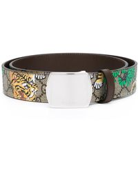 Gucci - Bengal Tiger Print Belt - Lyst