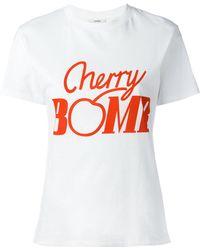 Ganni - Cherry Bomb T-shirt - Lyst