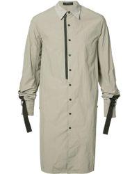 BMUET(TE) - Oversized Zip Detail Shirt - Lyst