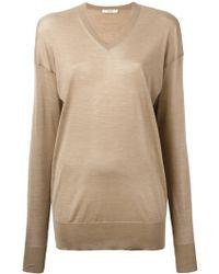 Céline - - V Neck Sweatshirt - Women - Silk - S - Lyst