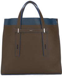 Furla - Contrast Detail Structured Tote - Lyst