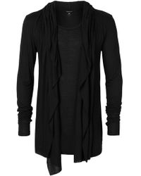 Unconditional - Draped Hooded Cardigan - Lyst