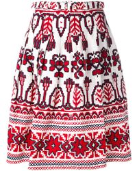 Samantha Sung - Flared Printed Skirt - Lyst