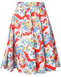 Mikio Sakabe - Flower A-line Skirt - Lyst