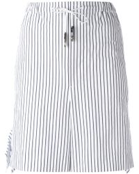 Toga - Striped Tie-waist Shorts - Lyst