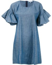 Maison Labiche - Ruffle Sleeve Shift Dress - Lyst