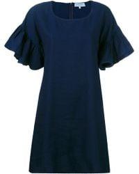 Maison Labiche - Ruffled Sleeve T-shirt Dress - Lyst