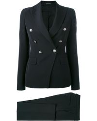 Tagliatore - Button Detail Trouser Suit - Lyst