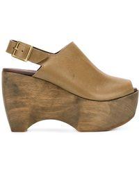 Simon Miller - Sling-back Platform Sandals - Lyst