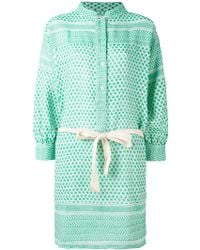 Rough Studios - Multi-pattern Belted Shirt Dress - Lyst