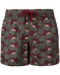 NOS Beachwear - Sharks Print Swim Shorts - Lyst