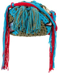 Peter Pilotto - Dinosaur Applique Crocheted Bag - Lyst