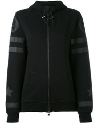 Hydrogen - Striped Details Zipped Hoodie - Lyst